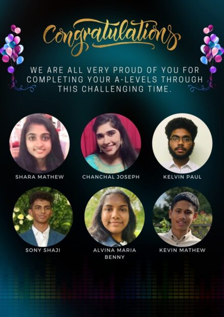 Congratulations A- levels winners